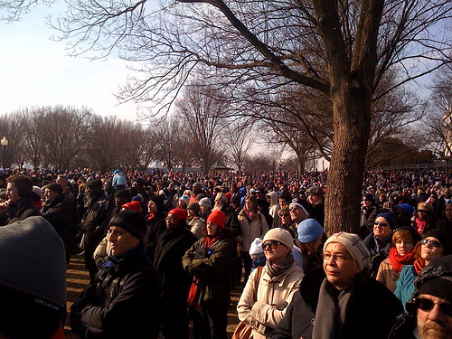 People at inauguration