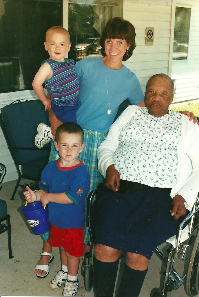 Millie & boys 2001